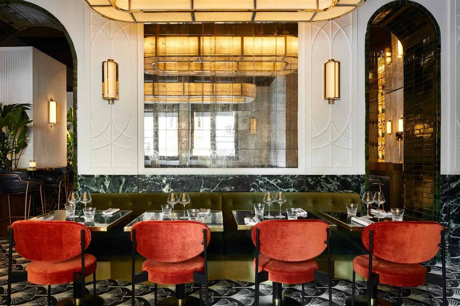 巴黎奢华风格牛排西餐厅空间设计效果图分享