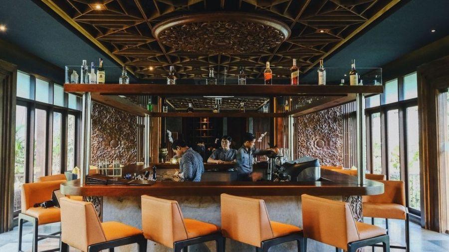 姜黄色调餐厅室内设计,暖色餐厅设计典范