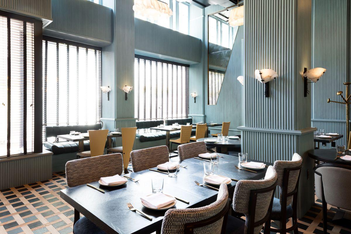 美国旧金山高端酒店会所餐厅空间设计效果图