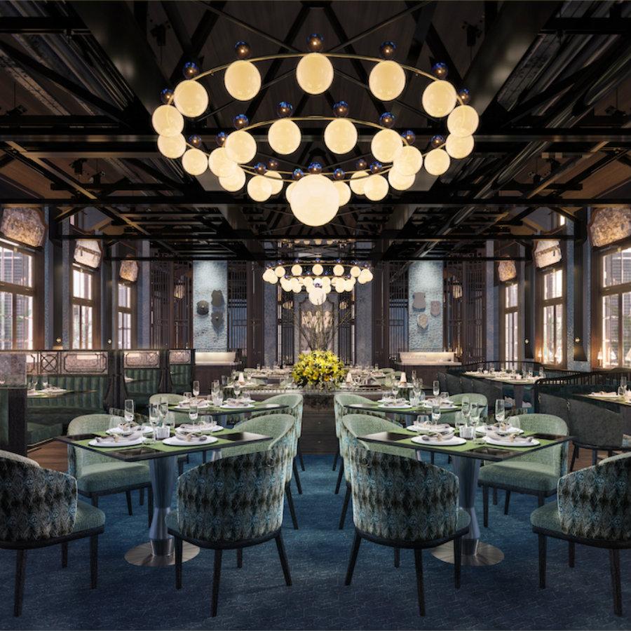 香港奢华的殖民地风格的休闲酒吧设计效果图